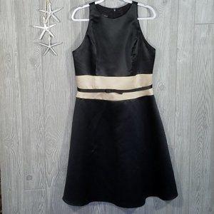 Scott McClintock Satin Empire Waist Cocktail Dress